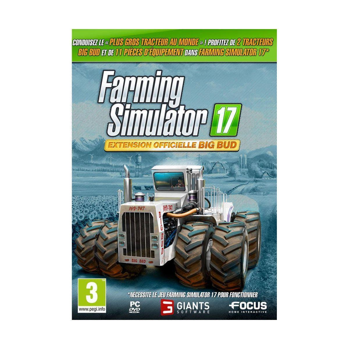 Jeu pc focus farming simulator 2017 exte - 3% de remise immédiate avec le code : multi3 (photo)