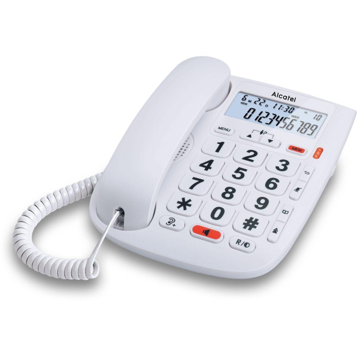Téléphone fixe grosses touches alcatel t max 20 - 2% de remise immédiate avec le code : cool2 (photo)