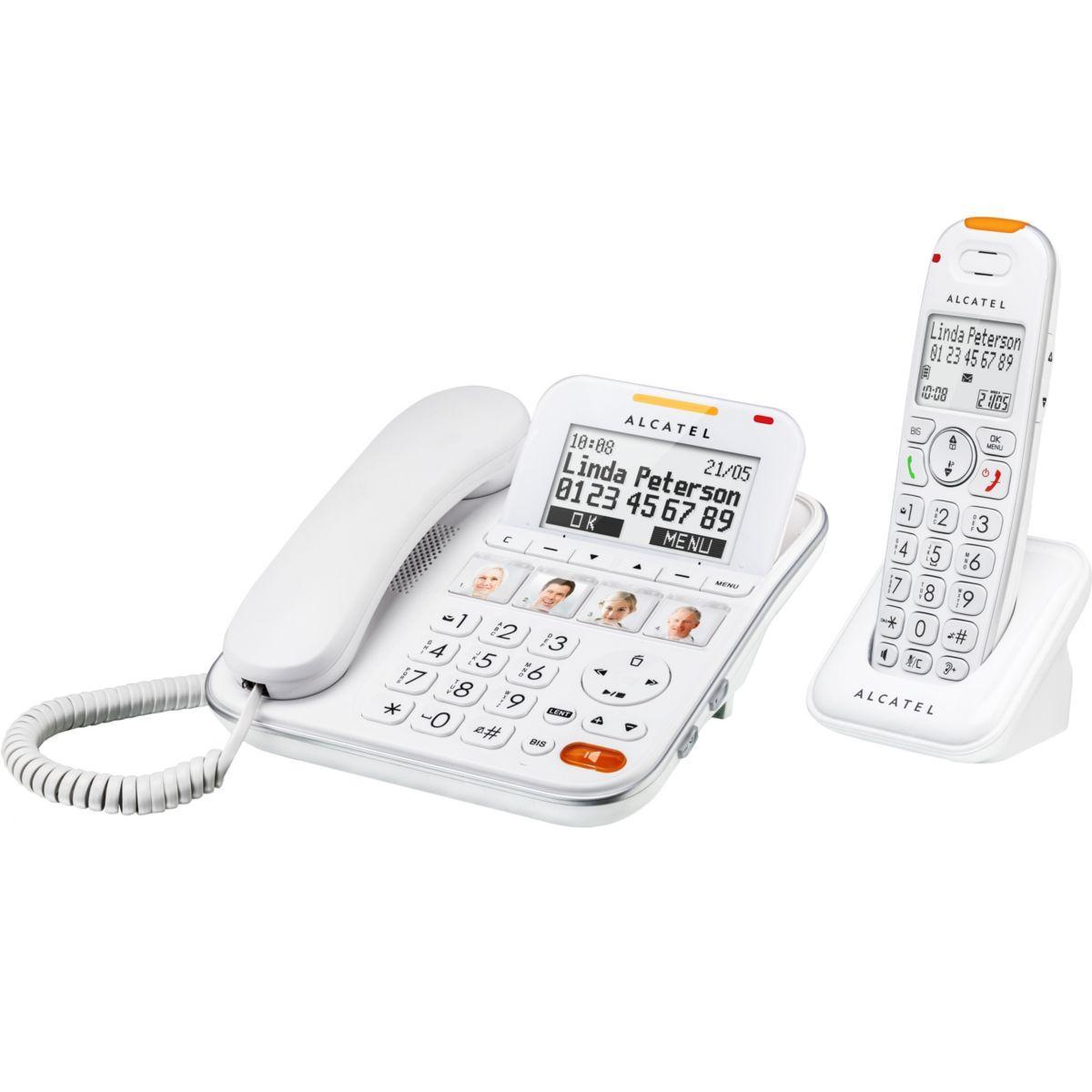 T�l�phone filaire alcatel xl 650 combo voice - 2% de remise imm�diate avec le code : automne2 (photo)