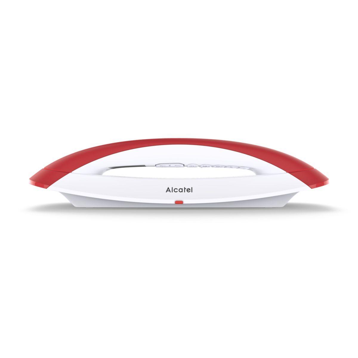 T�l�phone sans fil alcatel smile blanc/rouge - 2% de remise imm�diate avec le code : automne2 (photo)