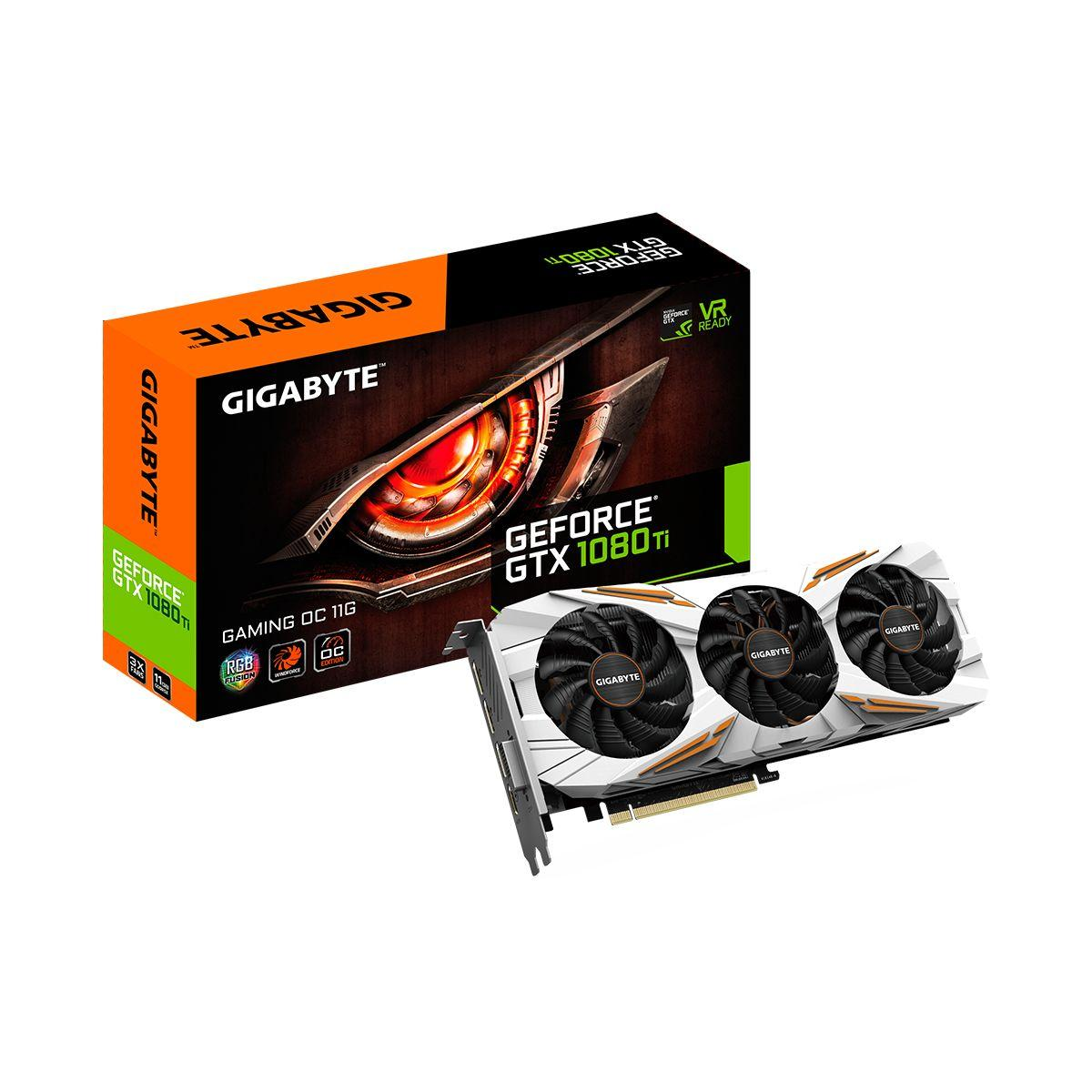 Carte graphique nvidia gigabyte geforce - gtx 1080 ti gaming oc 11g - 2% de remise imm�diate avec le code : fete2 (photo)
