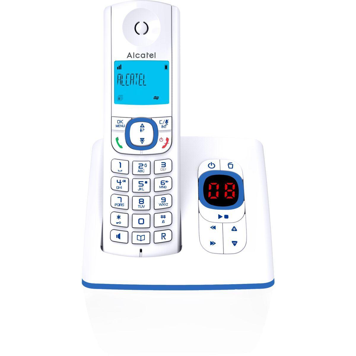 T�l�phone sans fil alcatel f530 voice solo bleu - 2% de remise imm�diate avec le code : automne2 (photo)