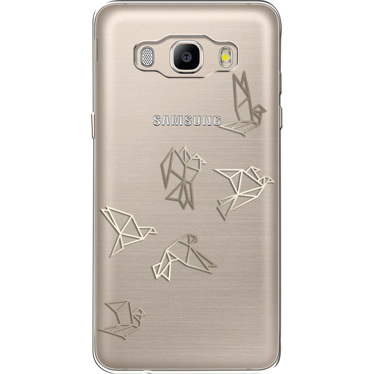 Coque bigben j5 2016 gold origami birds
