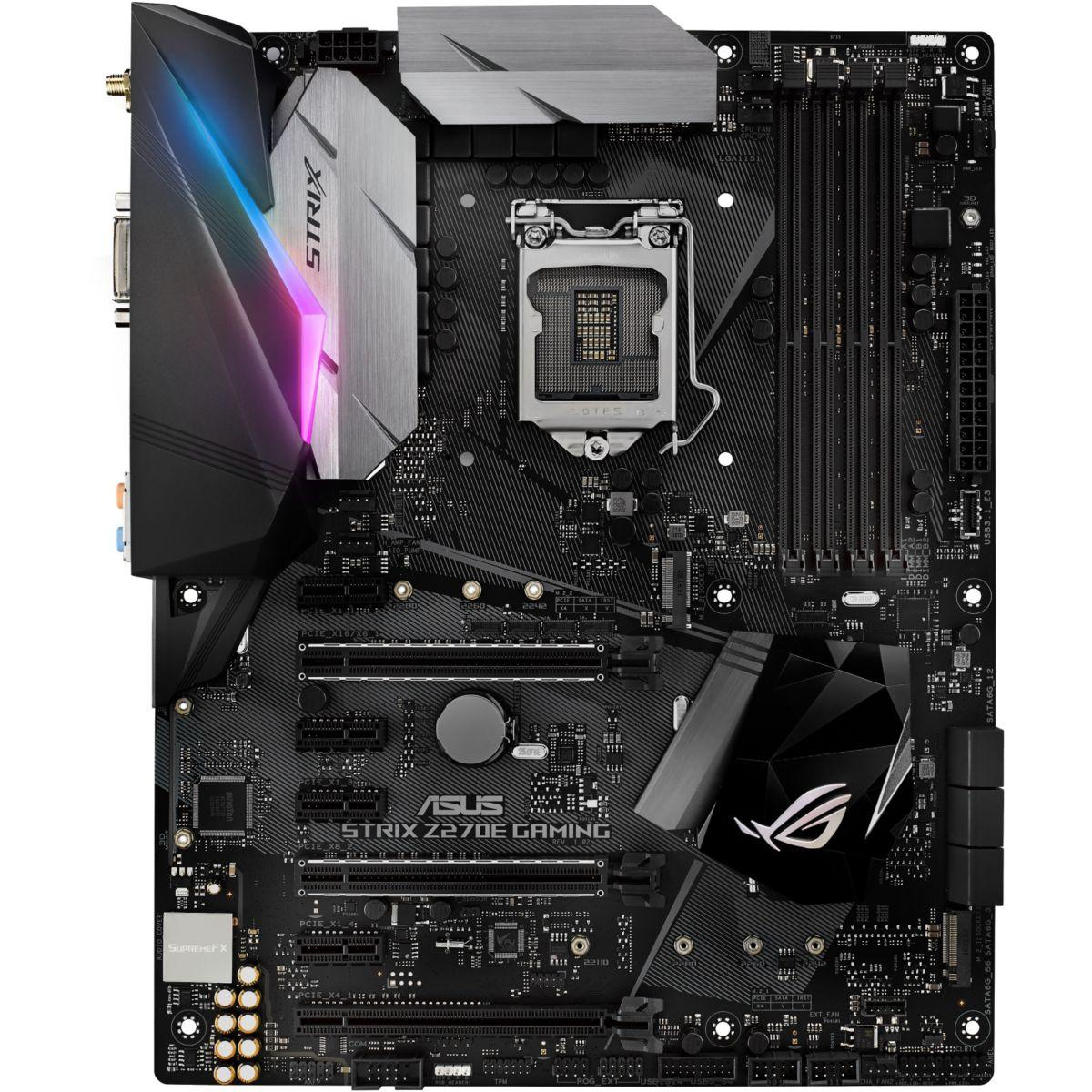 Carte m�re asus strix z270e gaming atx - 2% de remise imm�diate avec le code : fete2 (photo)