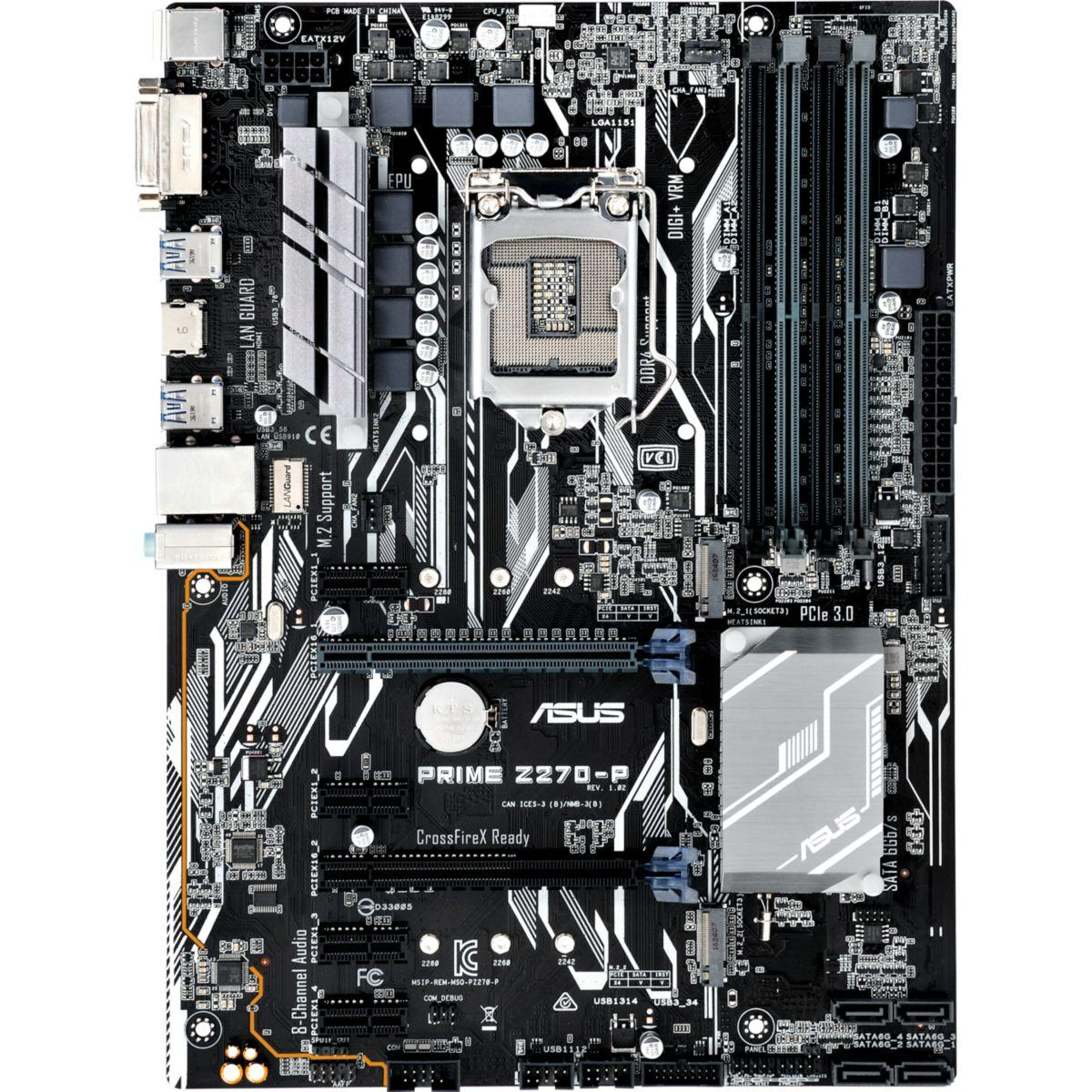 Carte m�re asus prime z270-p atx - 2% de remise imm�diate avec le code : fete2 (photo)