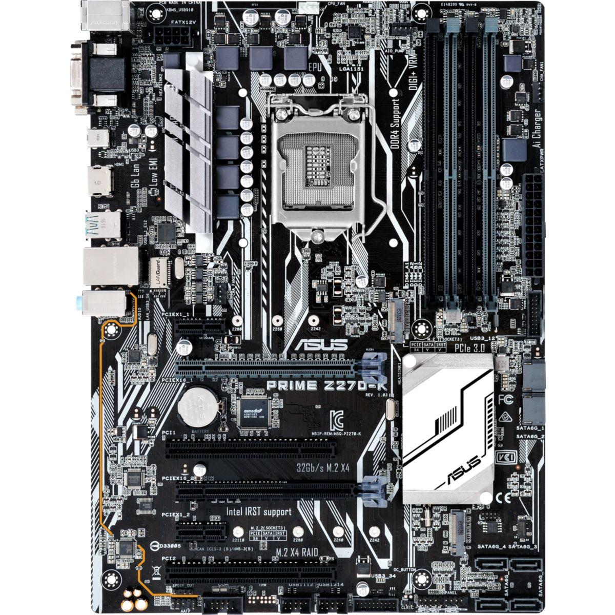 Carte m�re asus prime z270-k atx - 2% de remise imm�diate avec le code : fete2 (photo)