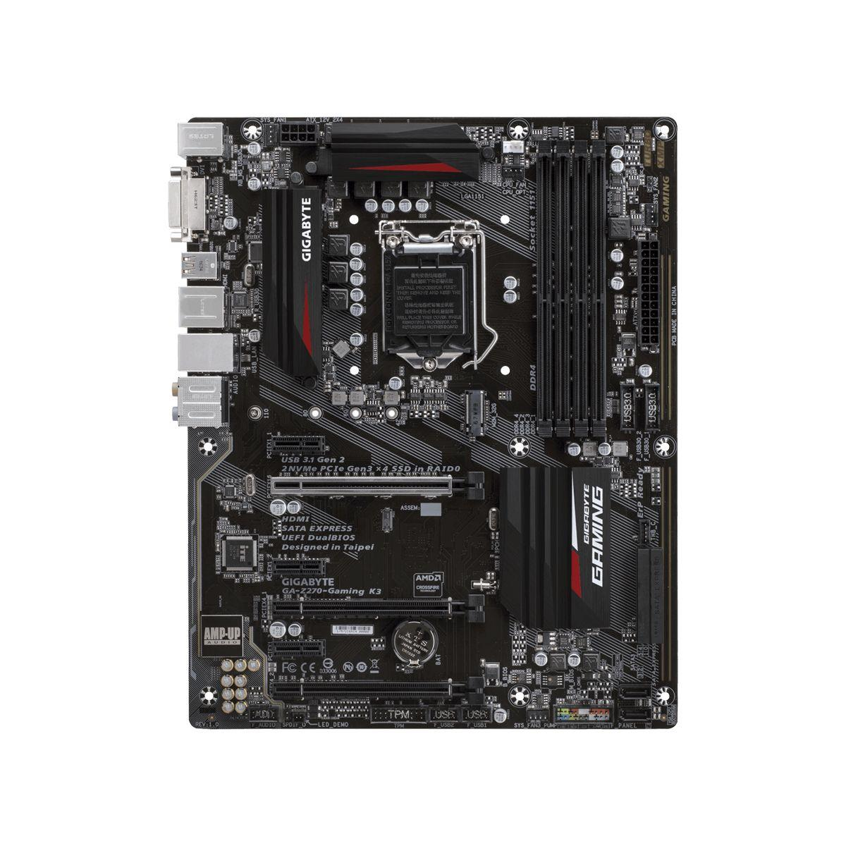 Carte m�re gigabyte at - ga-z270-gamingk3� - 7% de remise imm�diate avec le code : fete7 (photo)