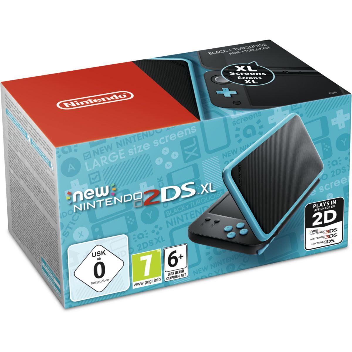 Console new 2ds xl nintendo new 2ds xl noire / turquoise (photo)