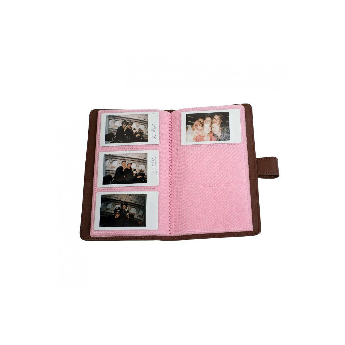 Album photo fuji instax mini brun