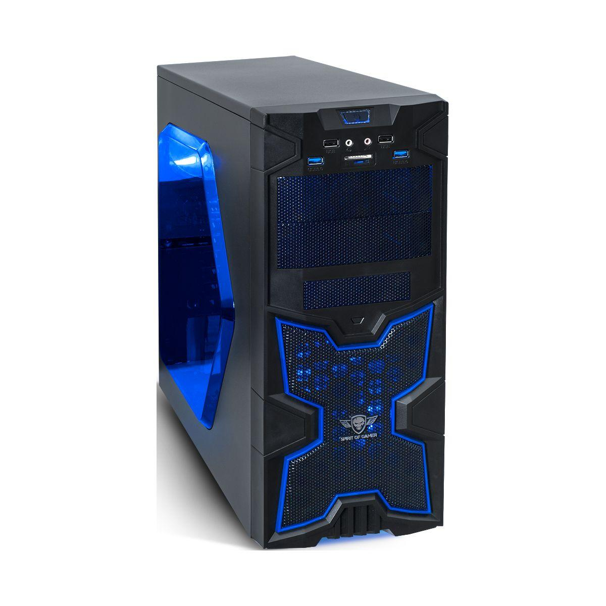 Boitier pc spirit of gamer x-fighters 41 blue mana tour - 2% de remise imm�diate avec le code : fete2 (photo)