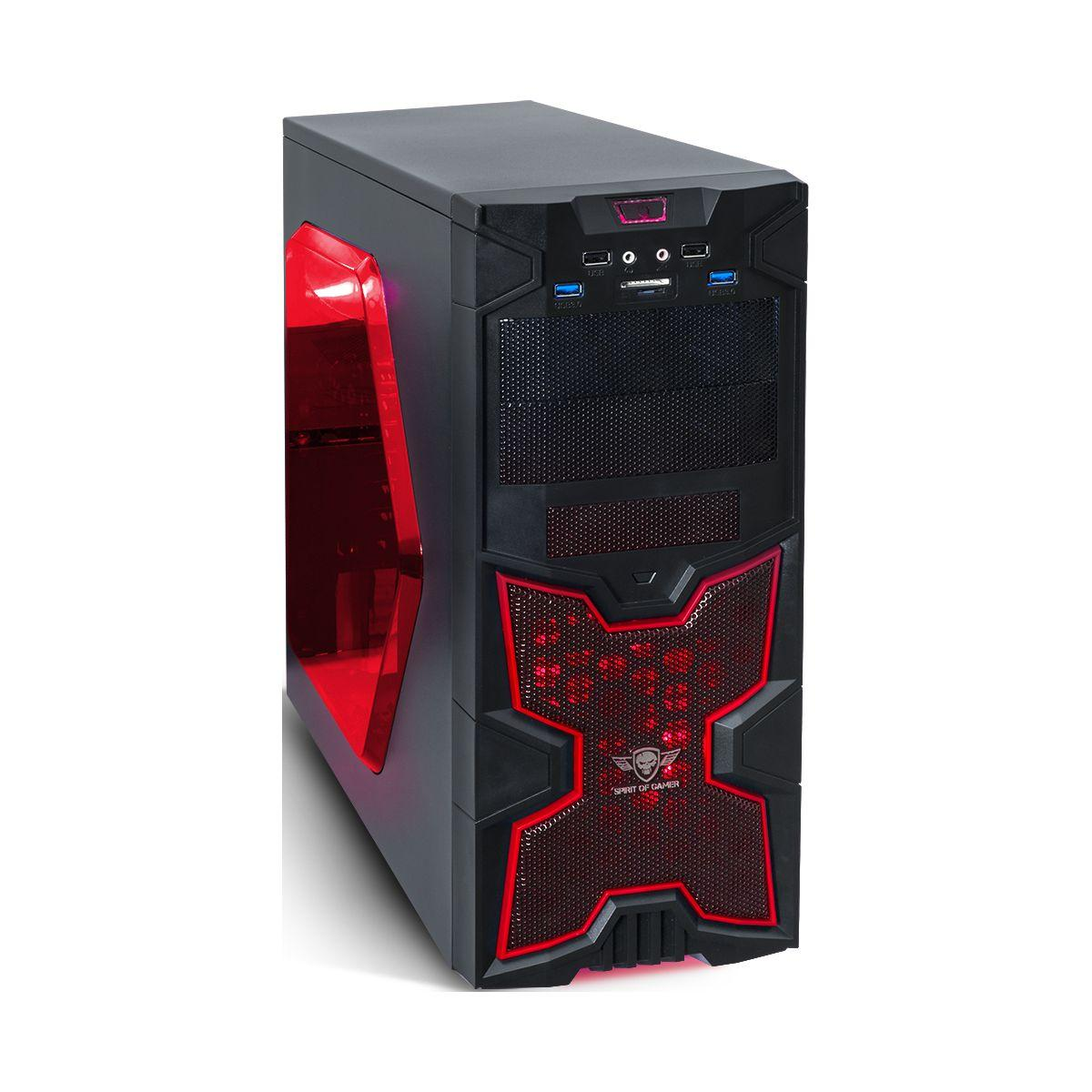 Boitier pc spirit of gamer x-fighters 41 red victory tour - 2% de remise imm�diate avec le code : fete2 (photo)