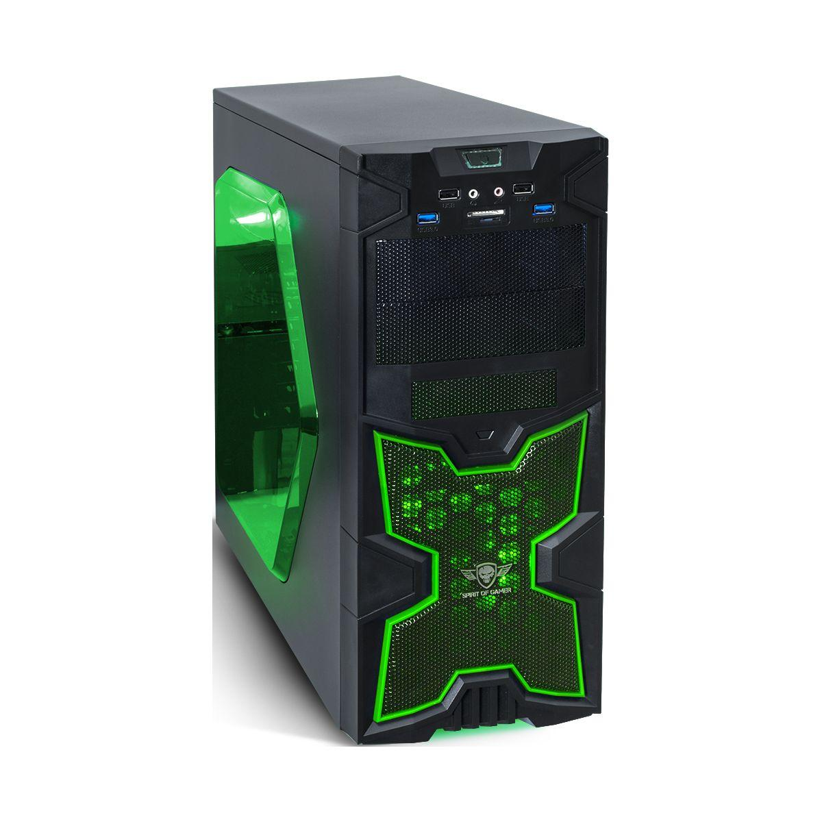 Boitier pc spirit of gamer x-fighters 41 green army - 2% de remise imm�diate avec le code : school2 (photo)