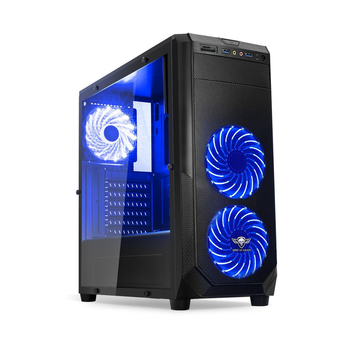 Boitier pc spirit of gamer pc rogue 1 bleu - 2% de remise imm�diate avec le code : fete2 (photo)