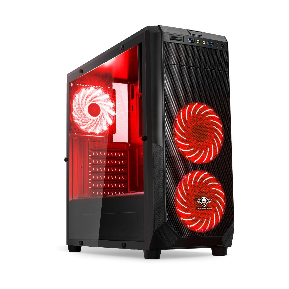 Boitier pc spirit of gamer pc rogue 1 rouge - 15% de remise imm�diate avec le code : fete15 (photo)