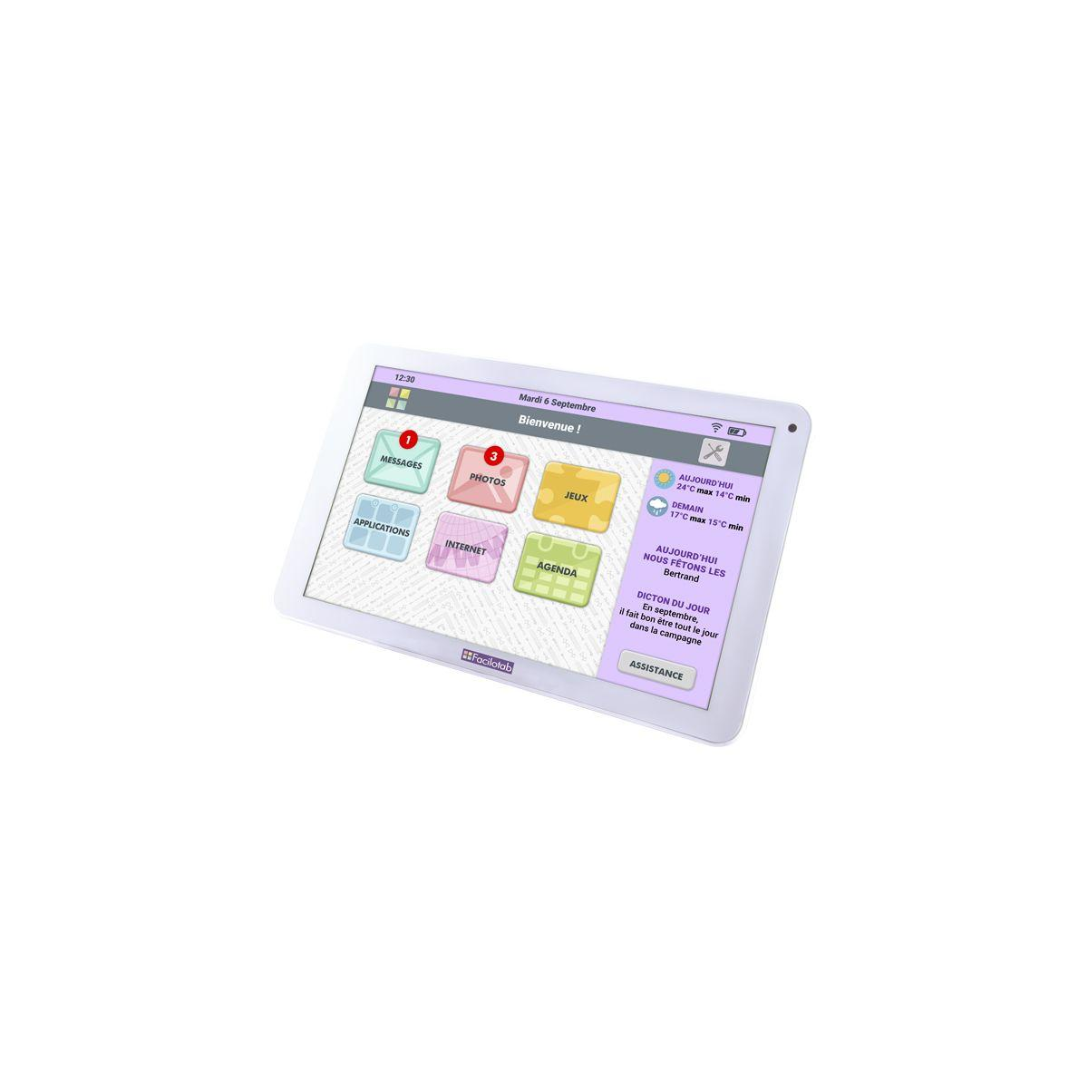 Tablette cdip facilotab 32go 10.1'' blan - 3% de remise immédiate avec le code : multi3 (photo)