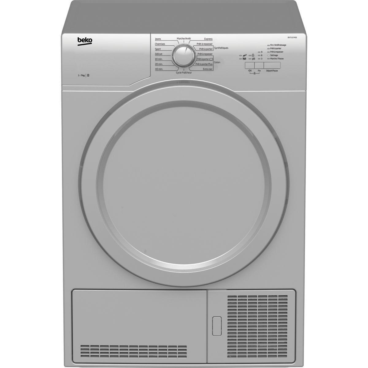 Sèche-linge frontal à condensation beko db7131pa0s - soldes et bons plans (photo)