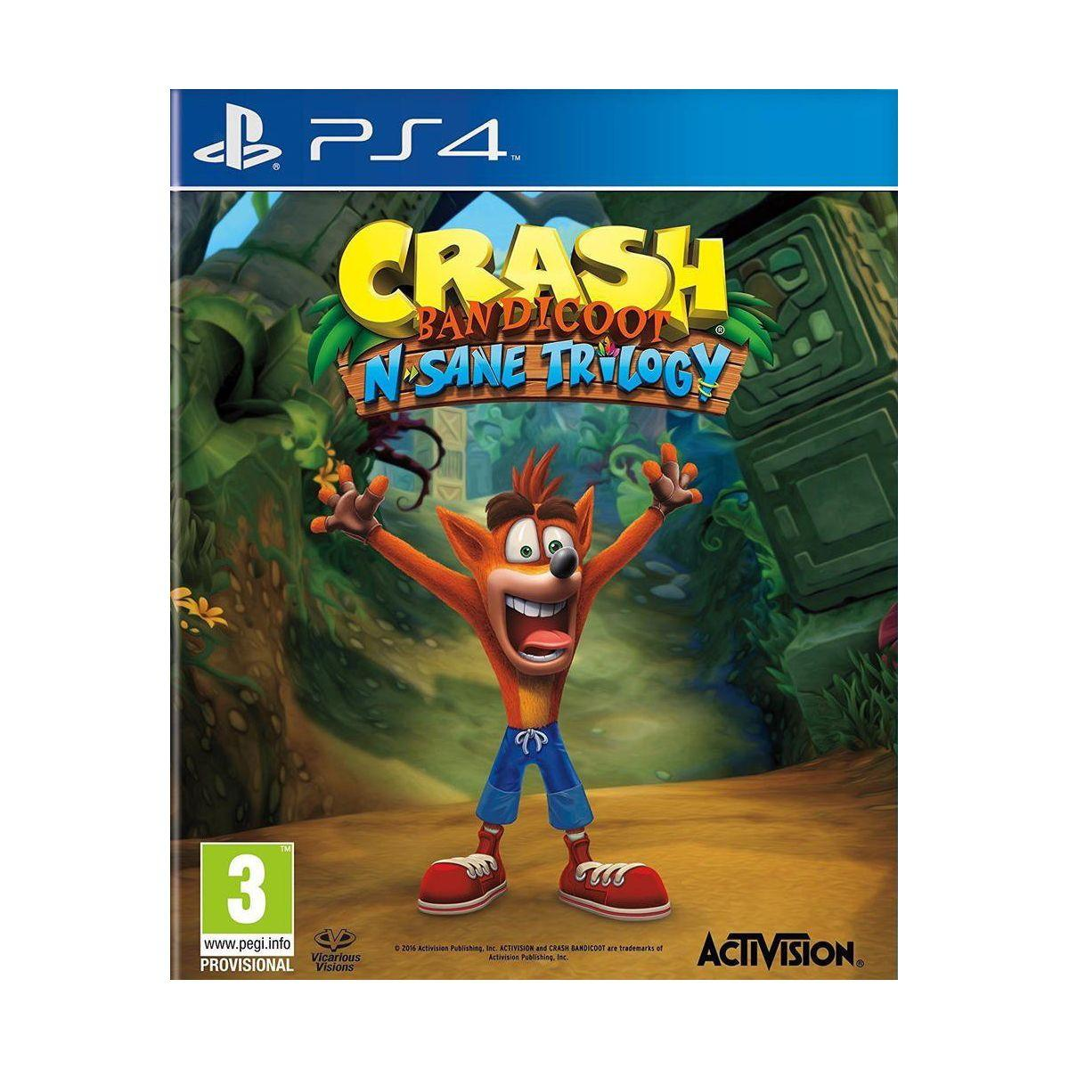 Jeu ps4 activision crash bandicoot n sane trilogy (photo)