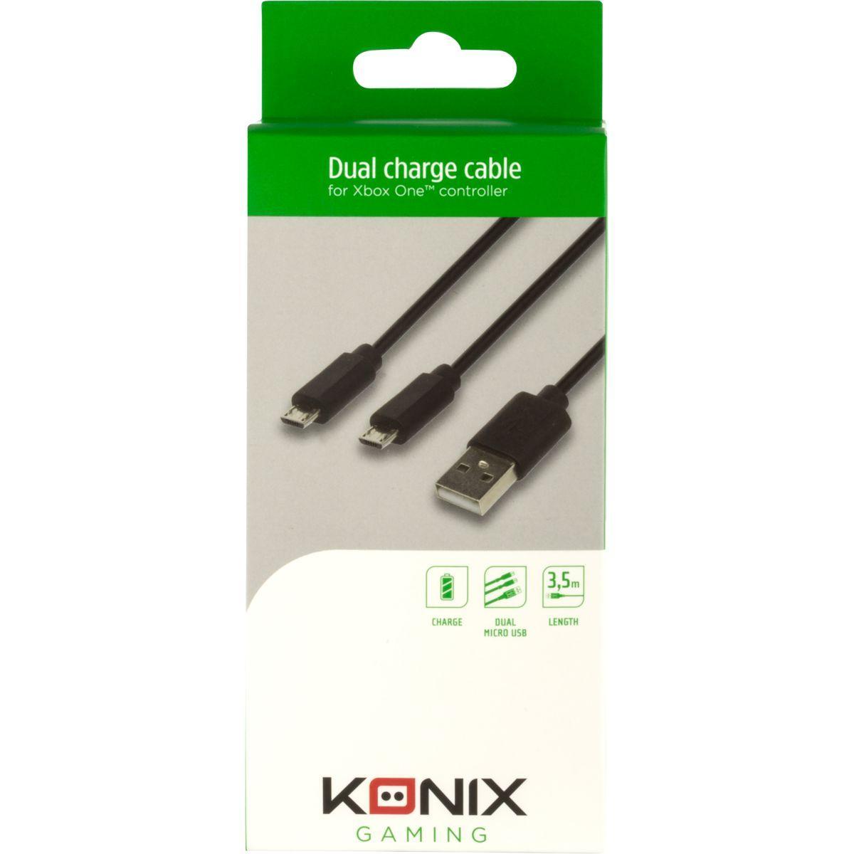 Acc. konix câble double micro usb pour m - 2% de remise immédiate avec le code : cool2 (photo)