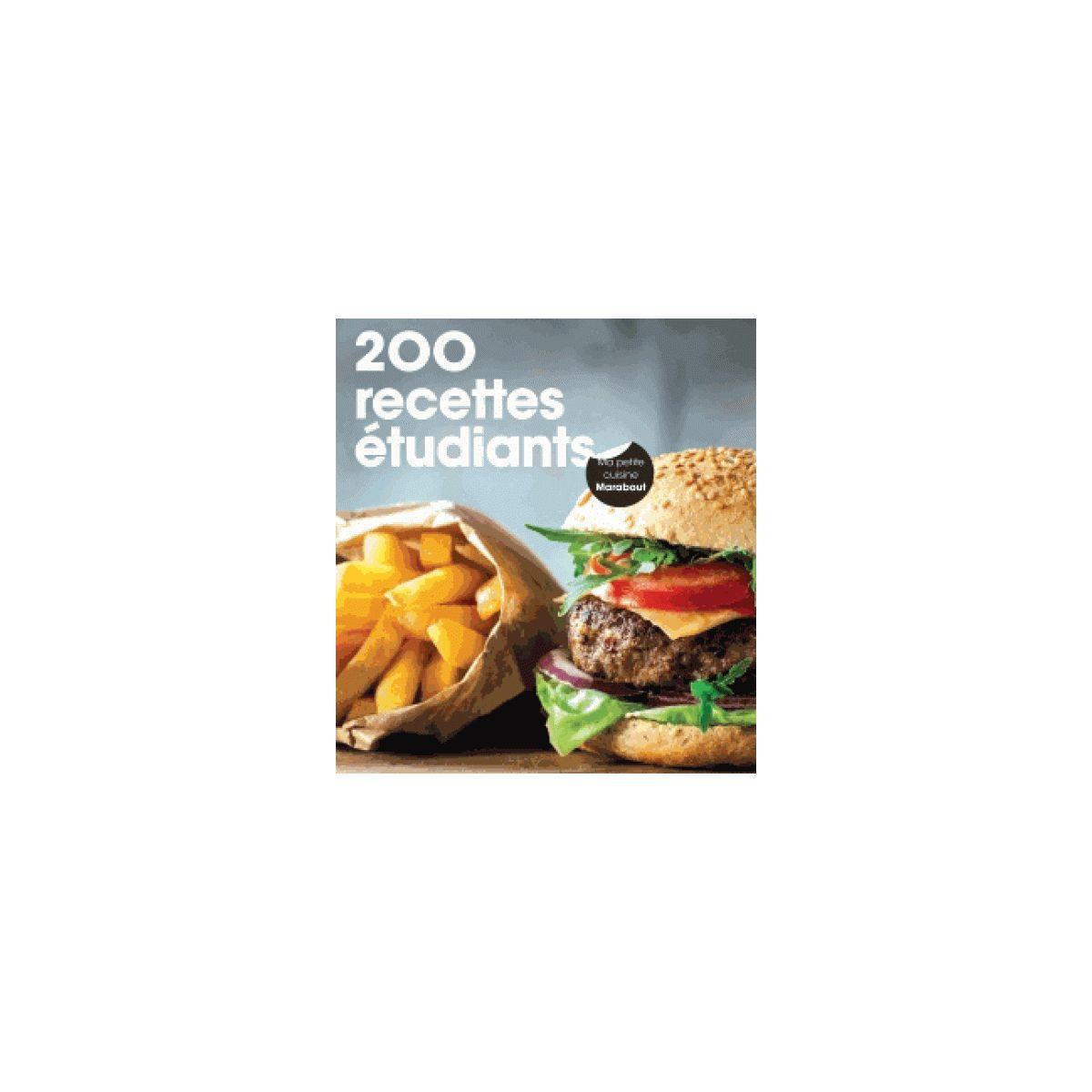 Livre marabout 200 recettes étudiants - la sélection de l'équipe (photo)