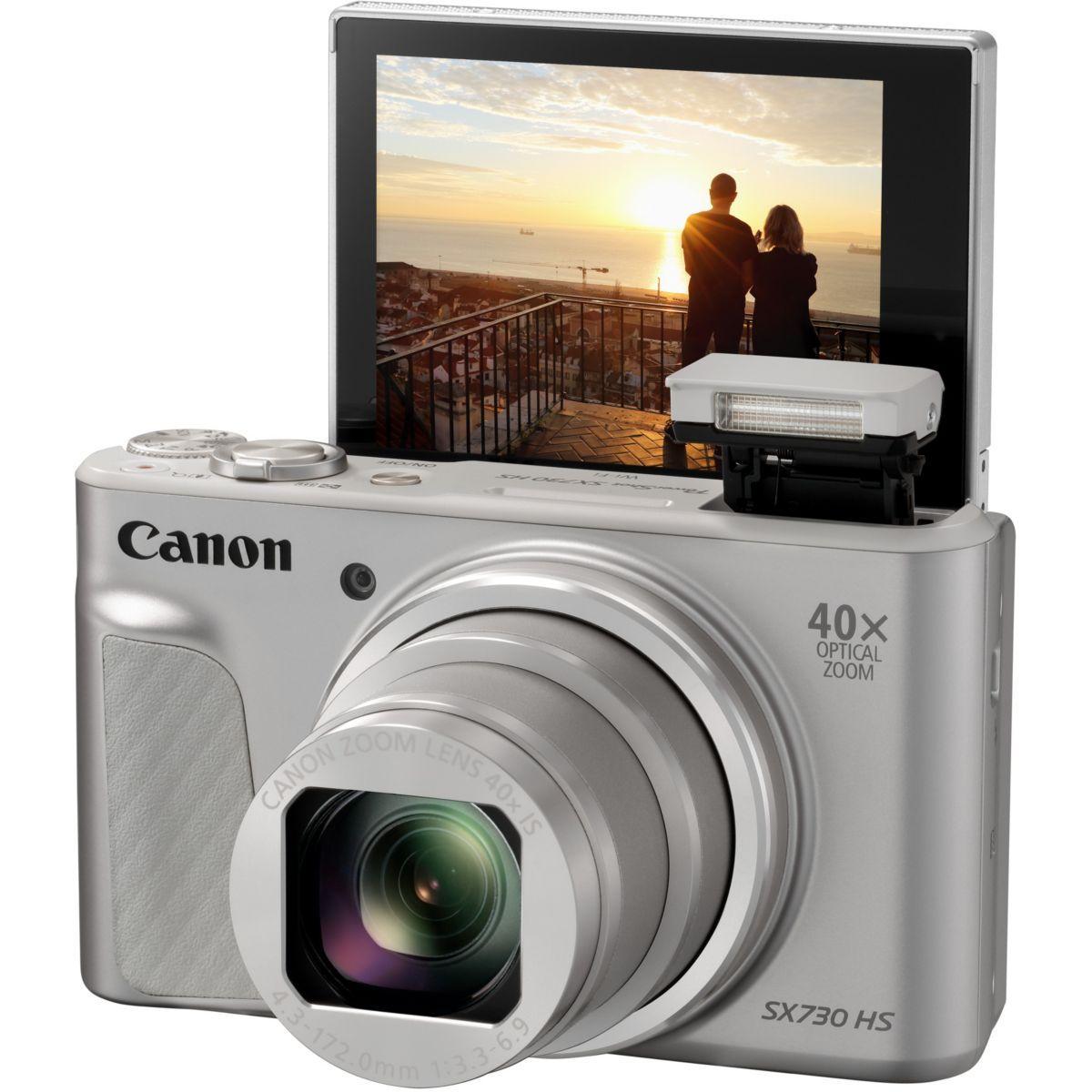 Appareil photo compact canon powershot sx730 hs argent (photo)