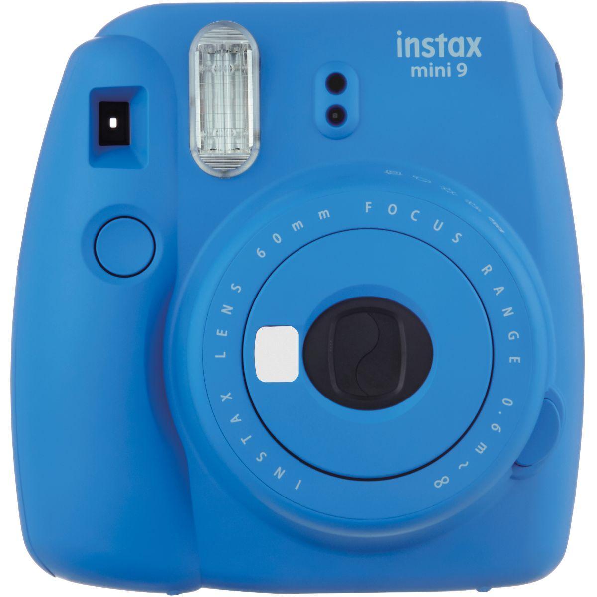 Appareil photo numérique fuji instax mini 9 - bleu cobalt - livraison offerte avec le code nouveaute