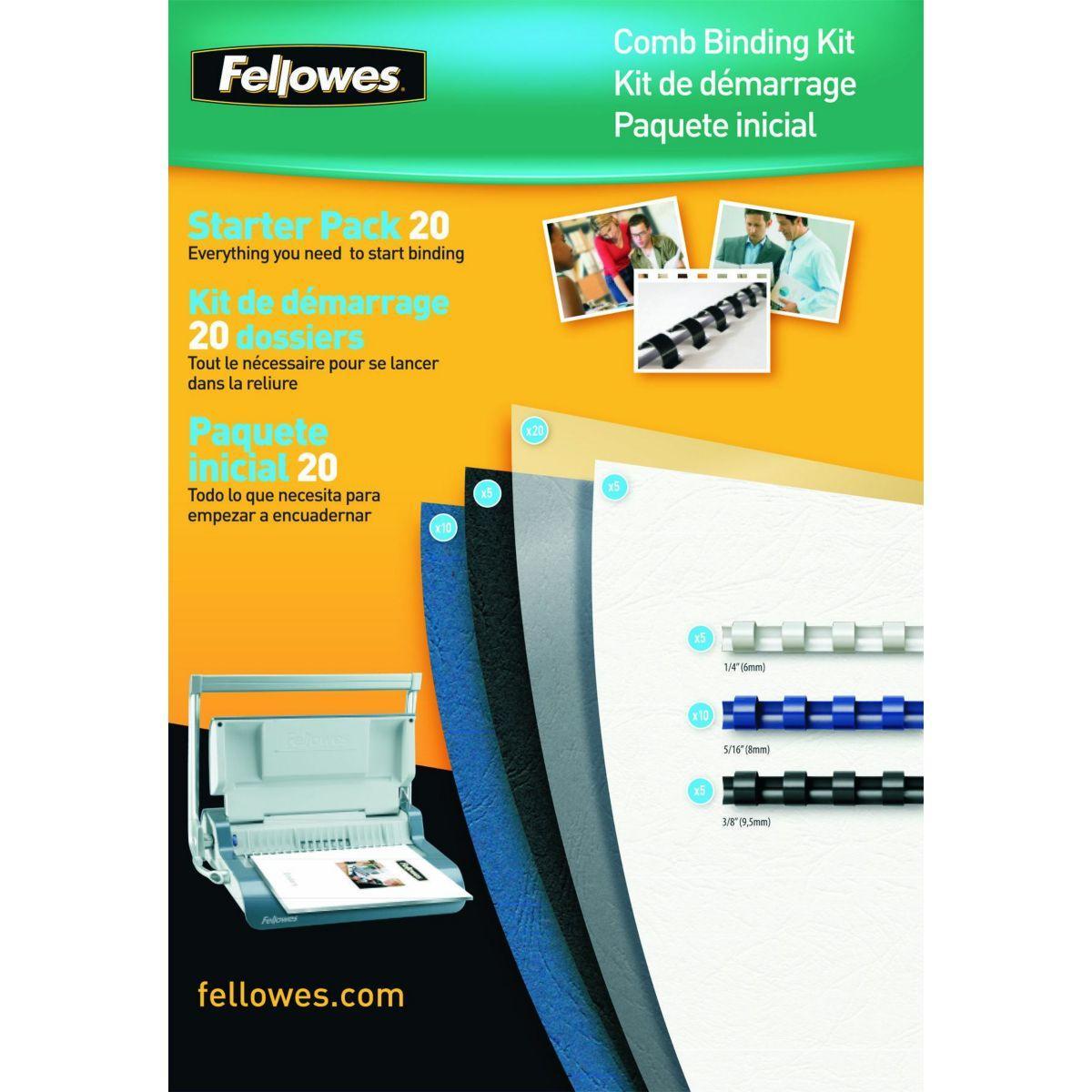 Reliure dossier fellowes kit de reliure 20 documents - 2% de remise imm�diate avec le code : automne2 (photo)
