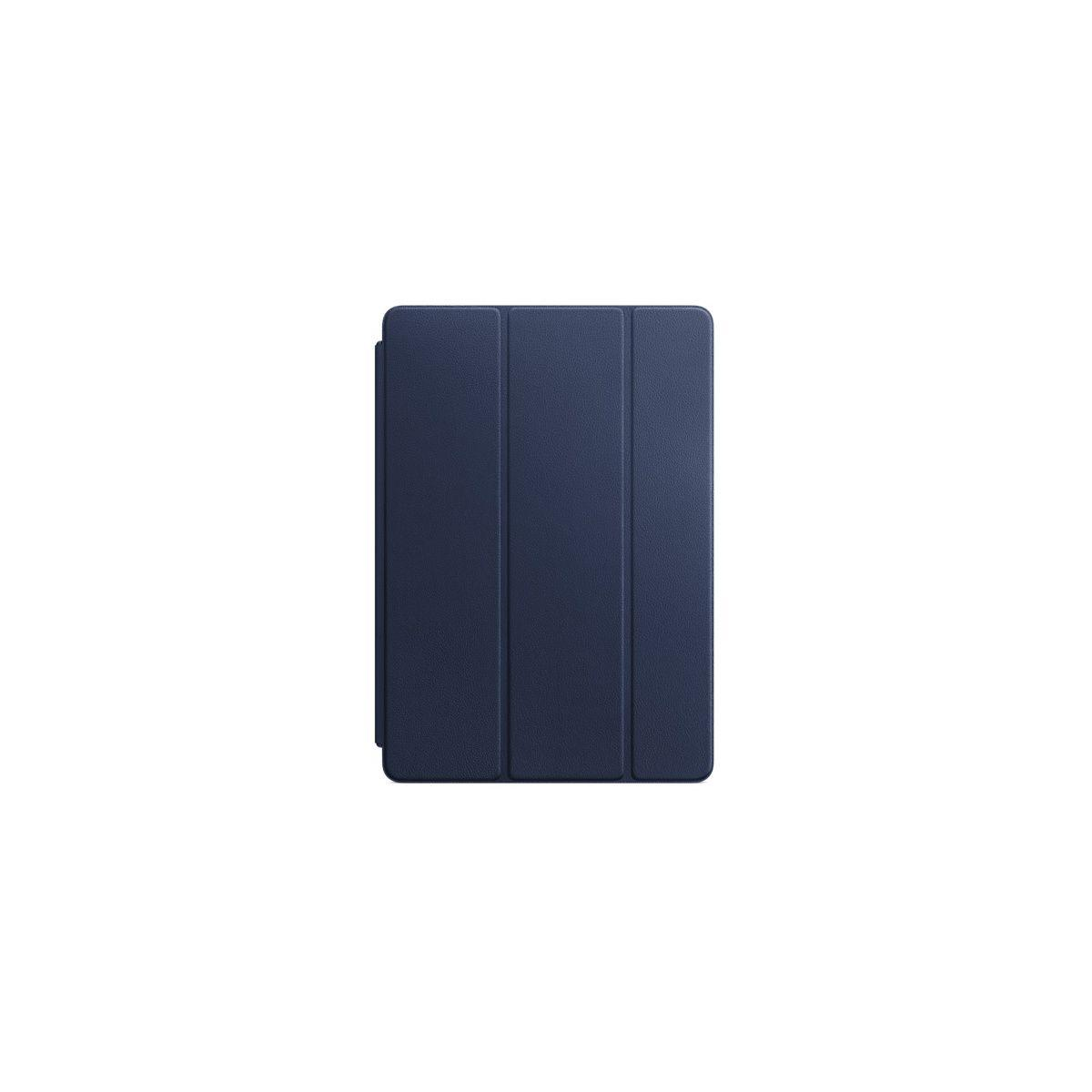 Etui tablette apple smart cover ipad pro 10.5 cuir bleu nuit - livraison offerte : code liv (photo)
