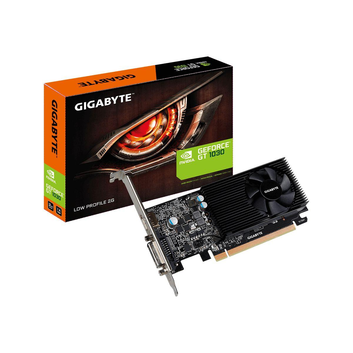 Carte graphique nvidia gigabyte geforce gt 1030 low profile 2g - 2% de remise imm�diate avec le code : fete2 (photo)