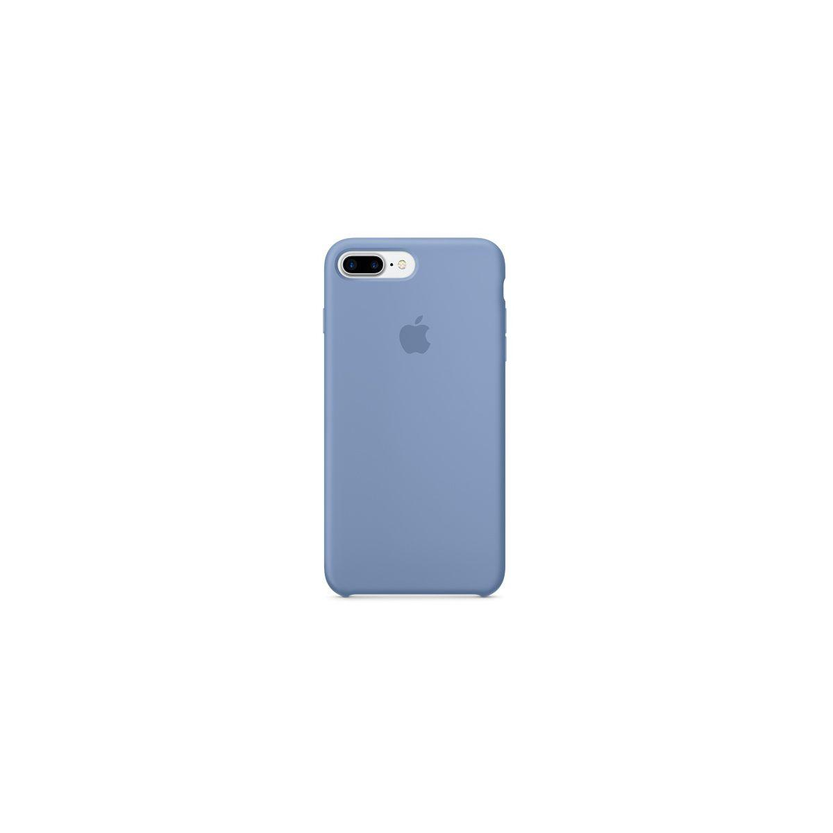 Coque apple iphone 7 plus silicone azur