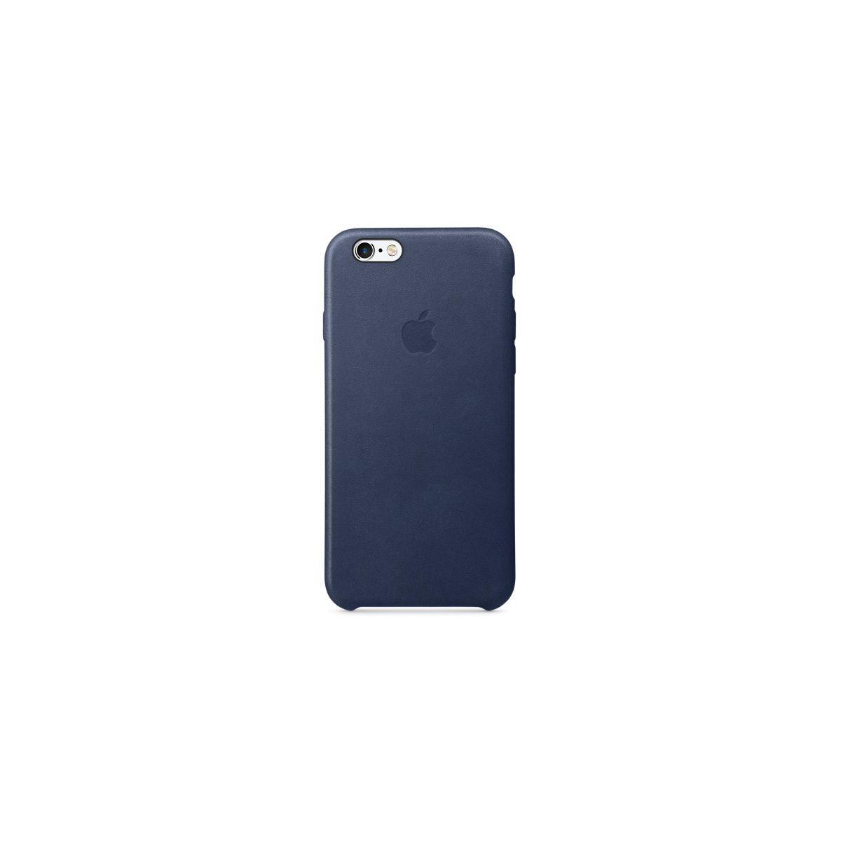 Coque apple iphone 6/6s cuir bleu nuit (photo)
