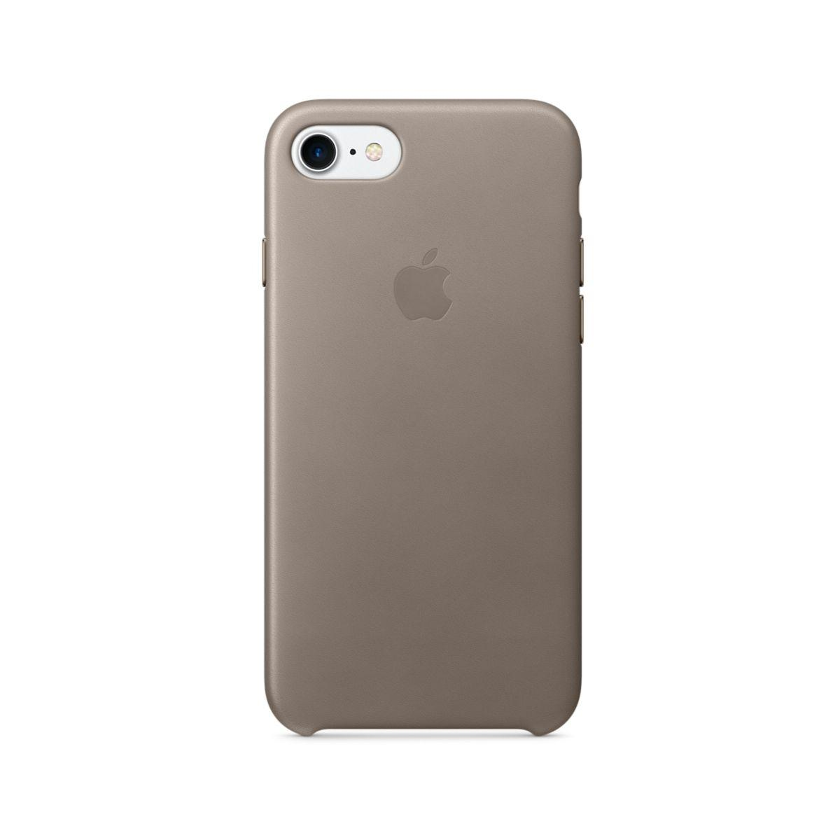 coque apple iphone 7 cuir taupe. Black Bedroom Furniture Sets. Home Design Ideas
