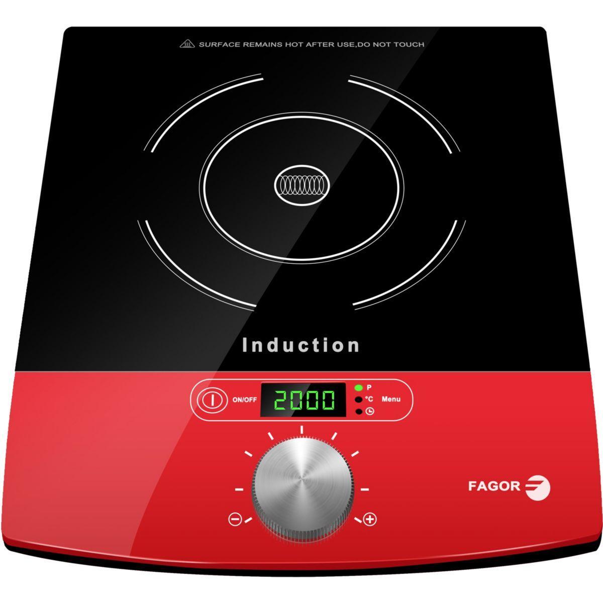 Plaque induction fagor 1831 rouge - 7% de remise imm�diate avec le code : fete7 (photo)