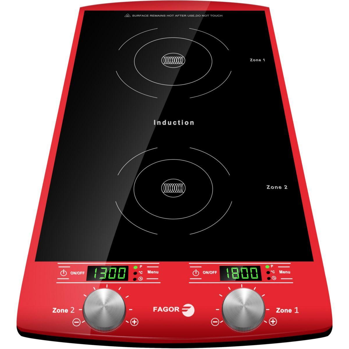 Plaque induction fagor double foyer rouge 1750 - 15% de remise imm�diate avec le code : fete15 (photo)