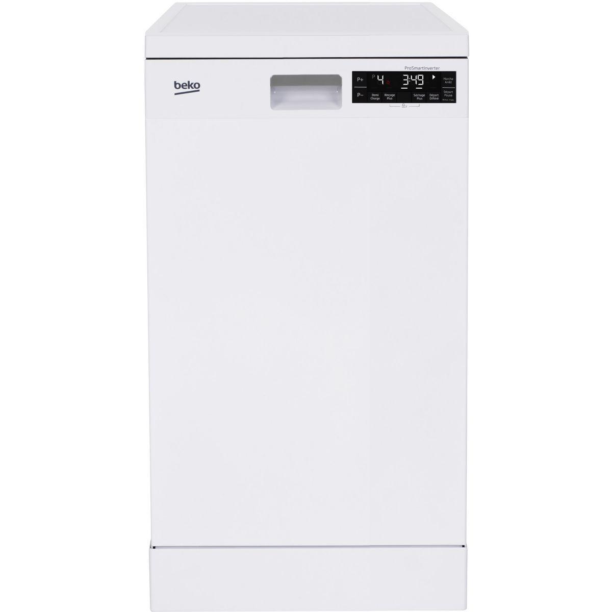 Lave vaisselle 45 cm beko dfs28020w blanc - 2% de remise imm�diate avec le code : gam2 (photo)
