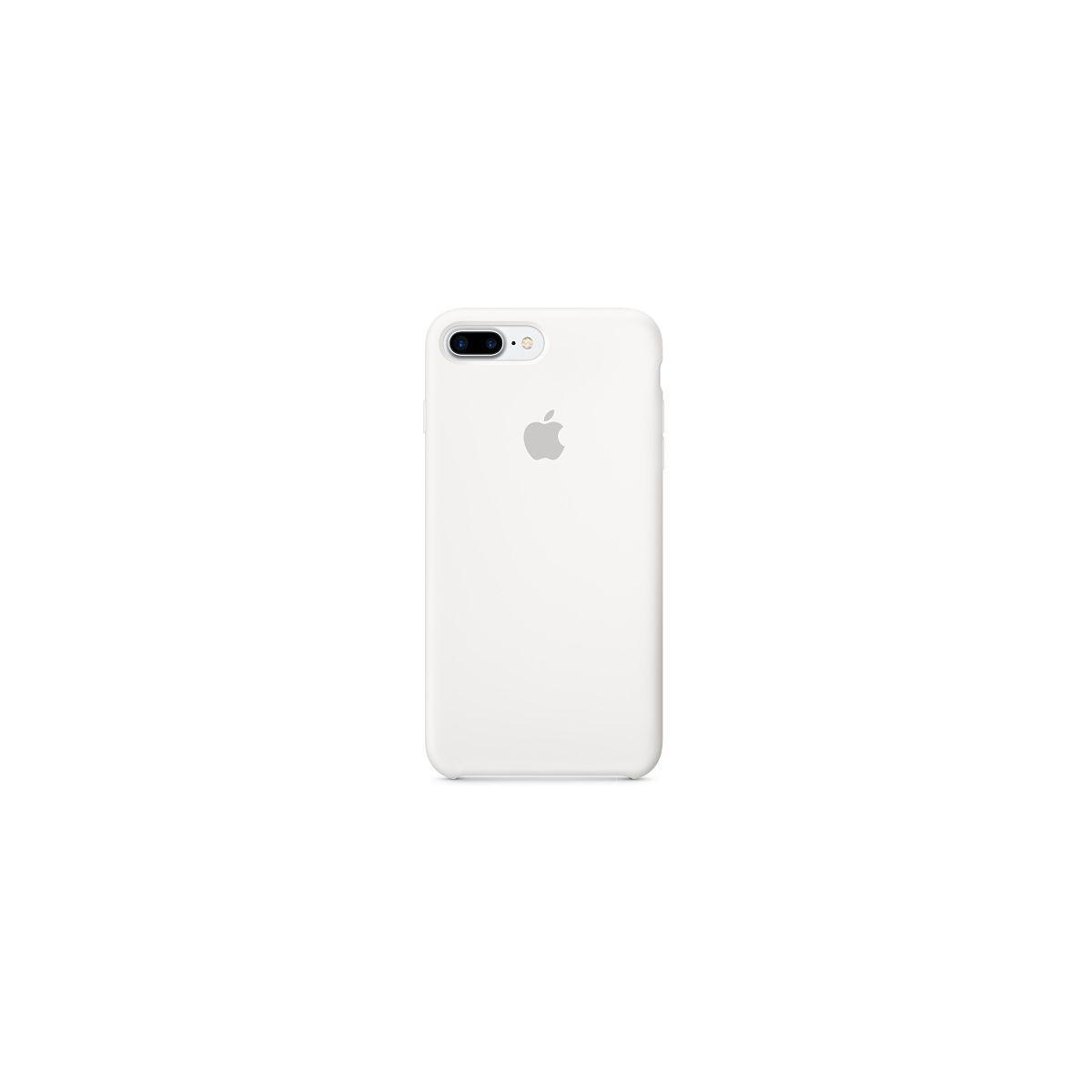 Coque apple iphone 7 plus silicone blanc (photo)