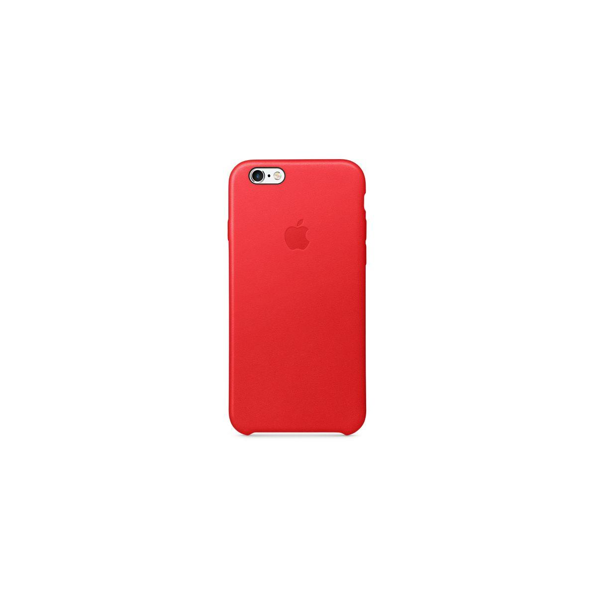 Coque apple iphone 6/6s cuir product(red) (photo)