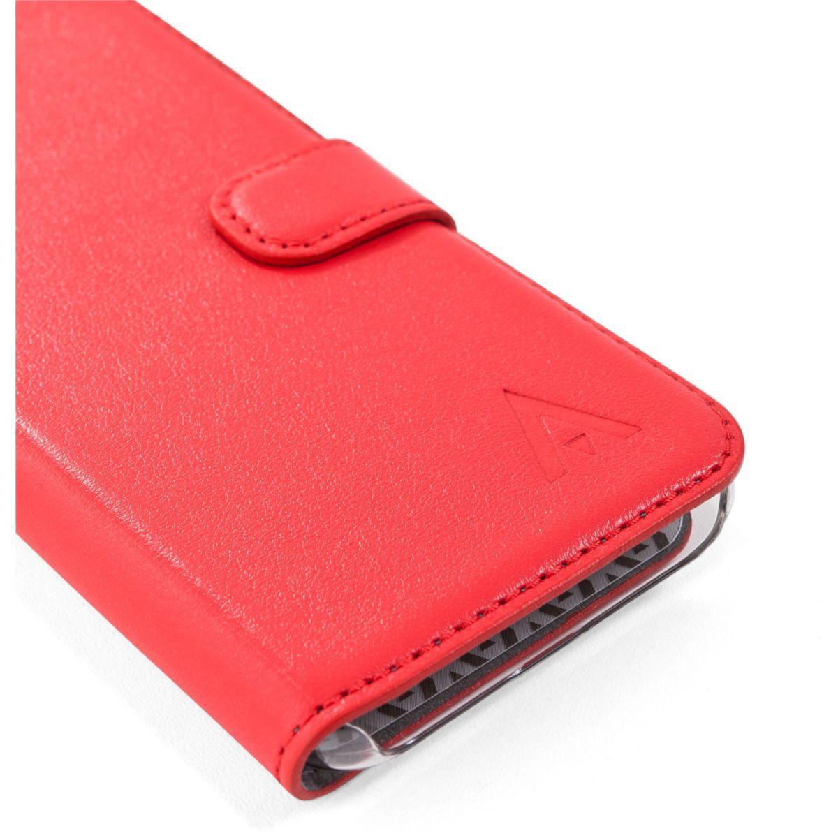 Folio adeqwat s8 cuir rouge - livraison offerte : code livpremium