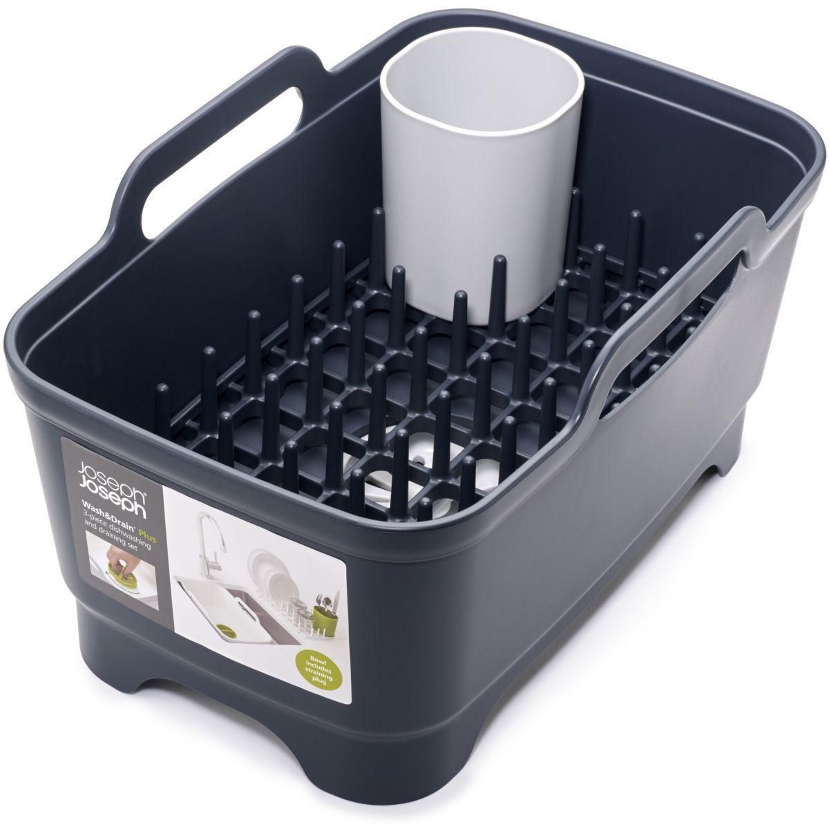 Bassine � vaisselle joseph joseph � vaisselle wash&drain plus gris/gris - 10% de remise imm�diate avec le code : deal10 (photo)