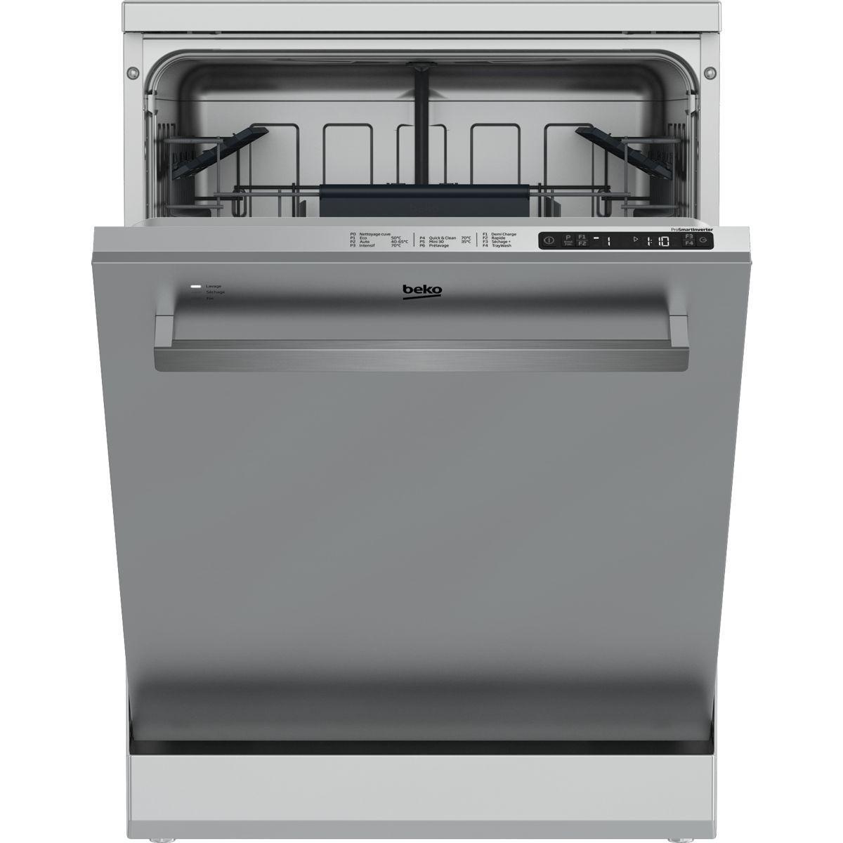 Lave vaisselle 60 cm beko ex-dfn26b20x - livraison offerte : code livp (photo)