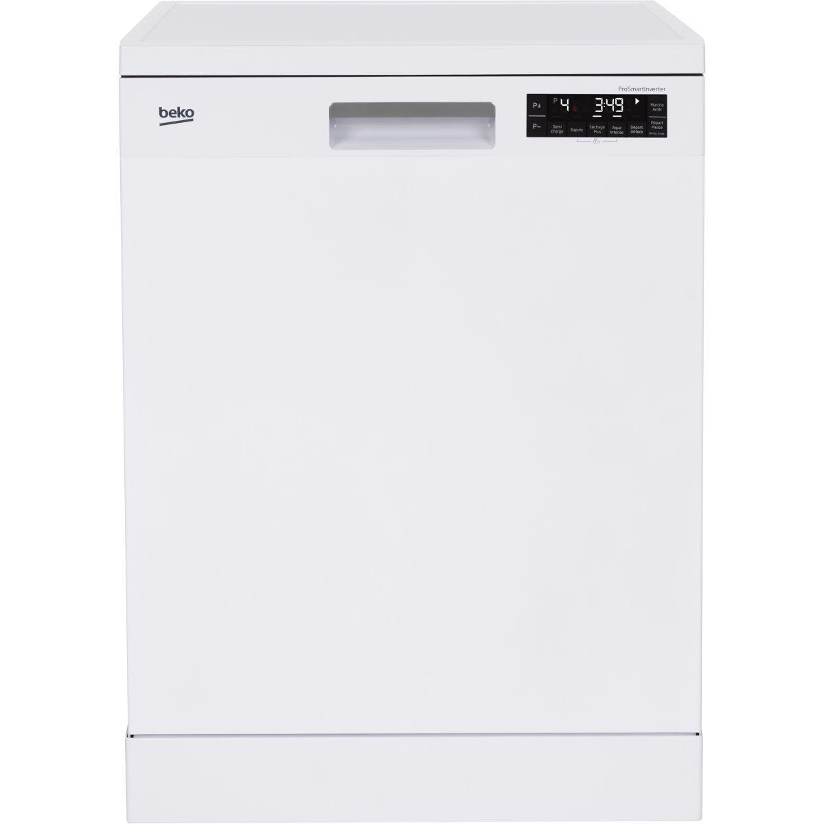 Lave vaisselle 60 cm beko dfn38b76w blanc - livraison offerte : code liv