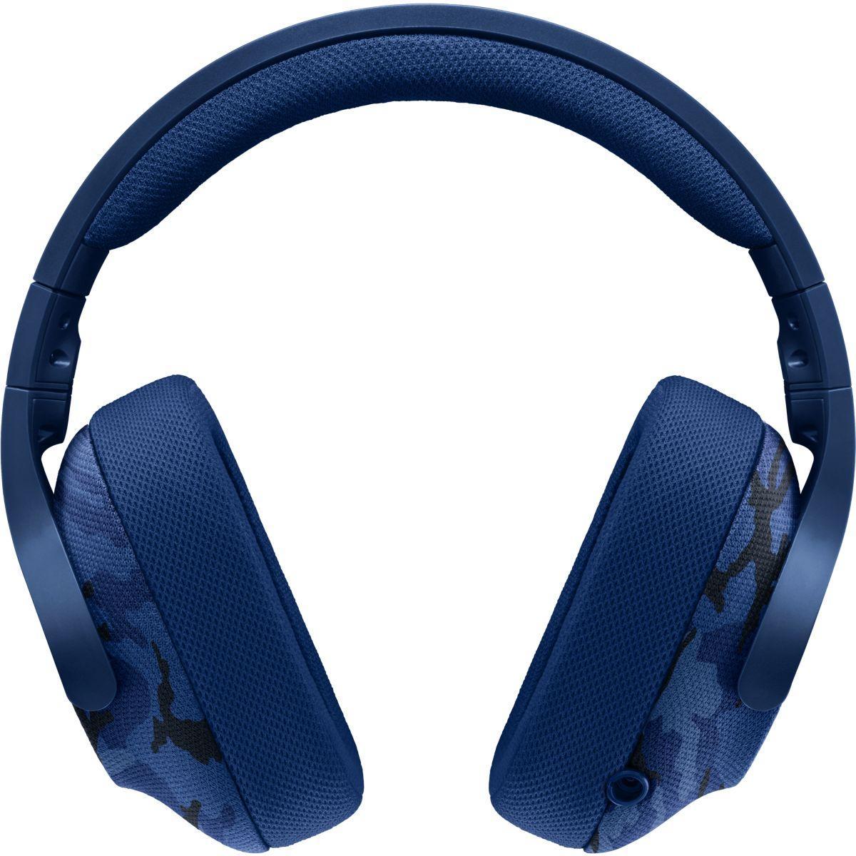 Casque micro logitech g433 7.1 bleu camo - 2% de remise imm�diate avec le code : green2