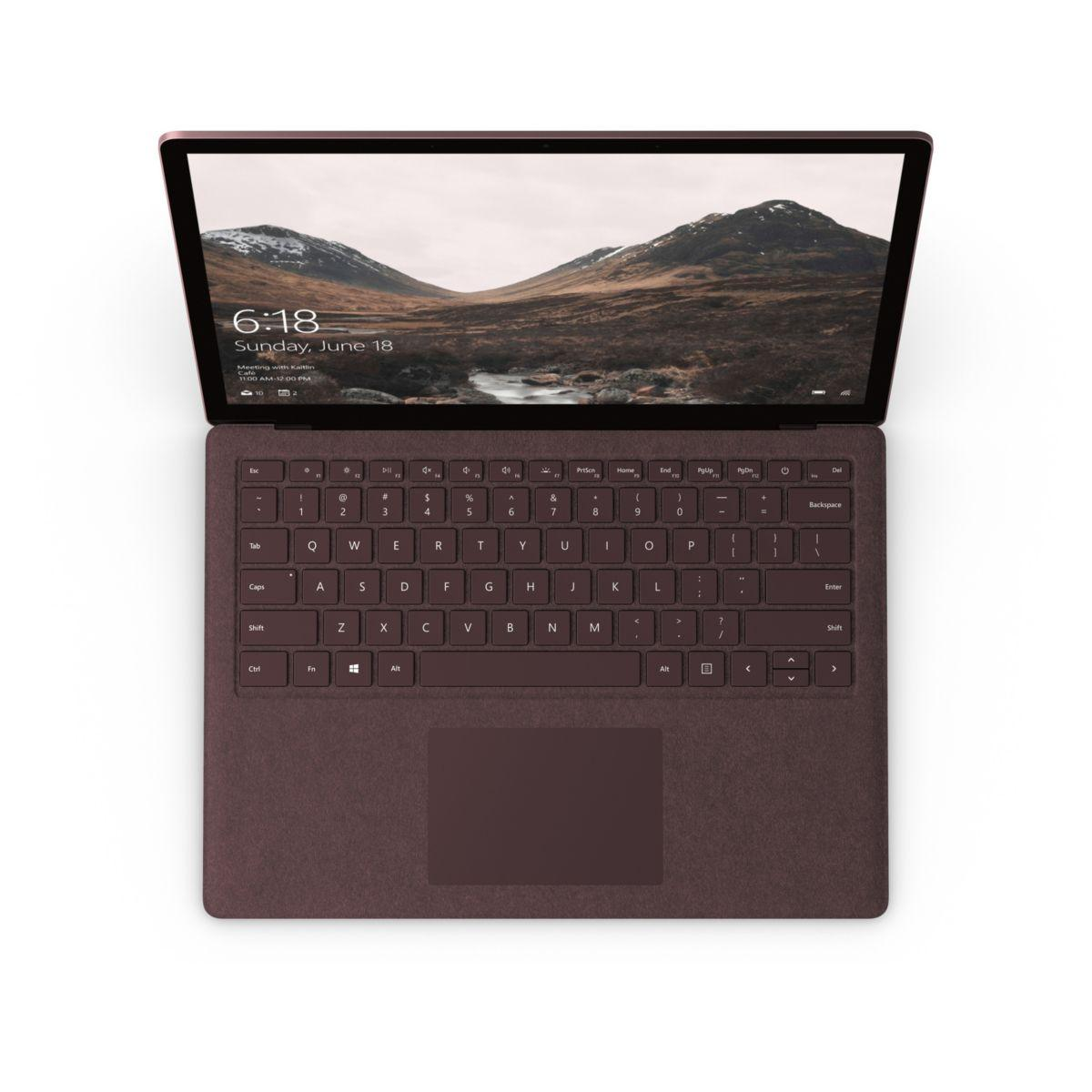 Ordinateur portable microsoft surface laptop i5 256go bordeaux