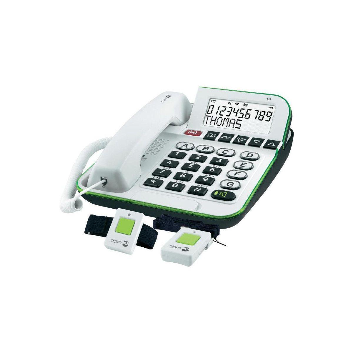Tél. doro secure 350 blanc - livraison offerte avec le code nouveaute (photo)