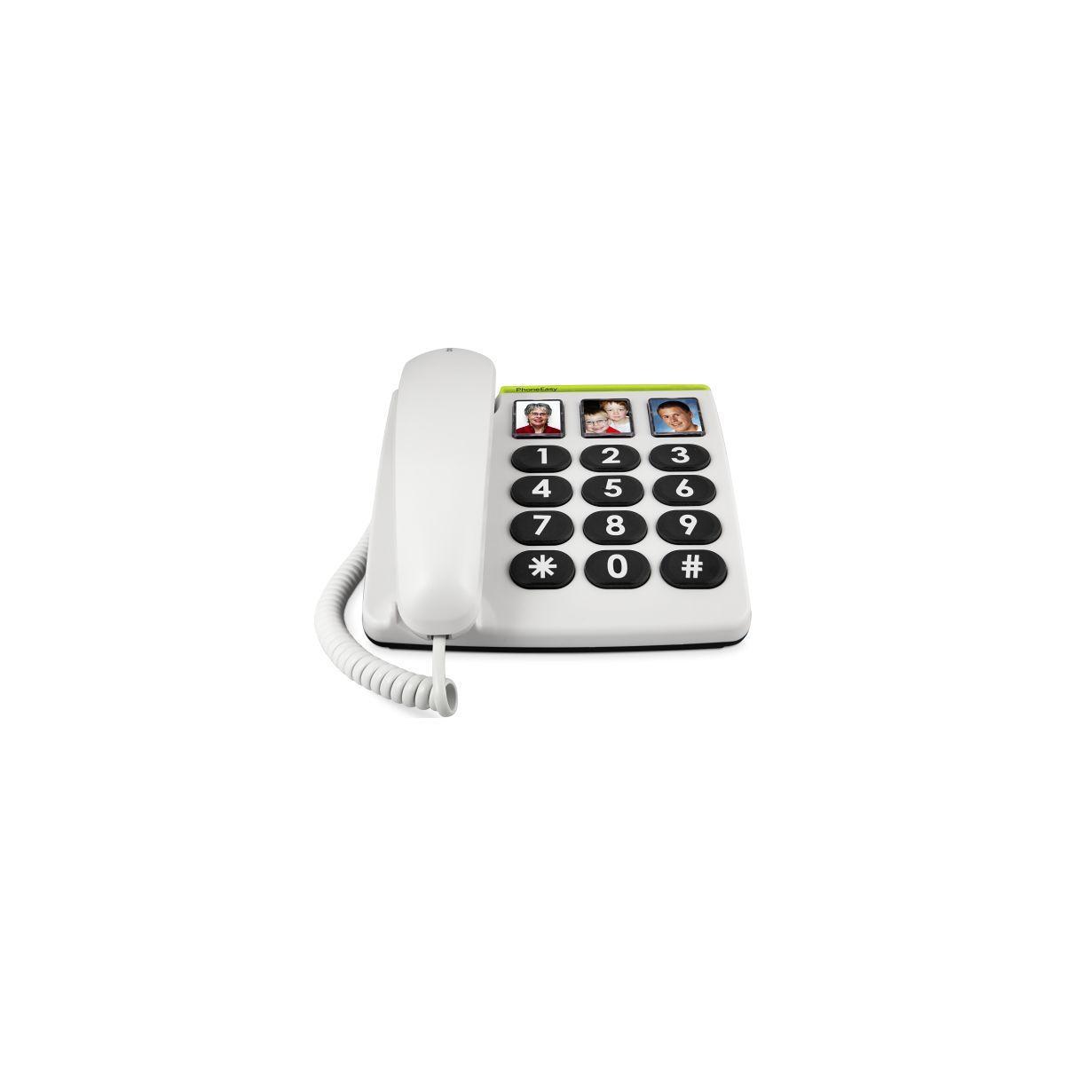 Tél. doro phone easy 331ph blanc - livraison offerte avec le code nouveaute (photo)