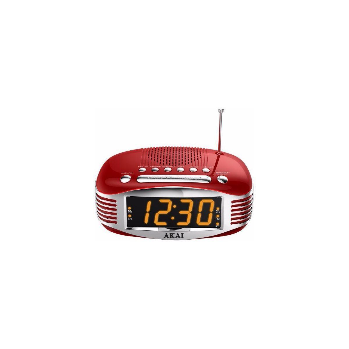 Radio r�veil akai ar400 rouge - 2% de remise imm�diate avec le code : school2 (photo)