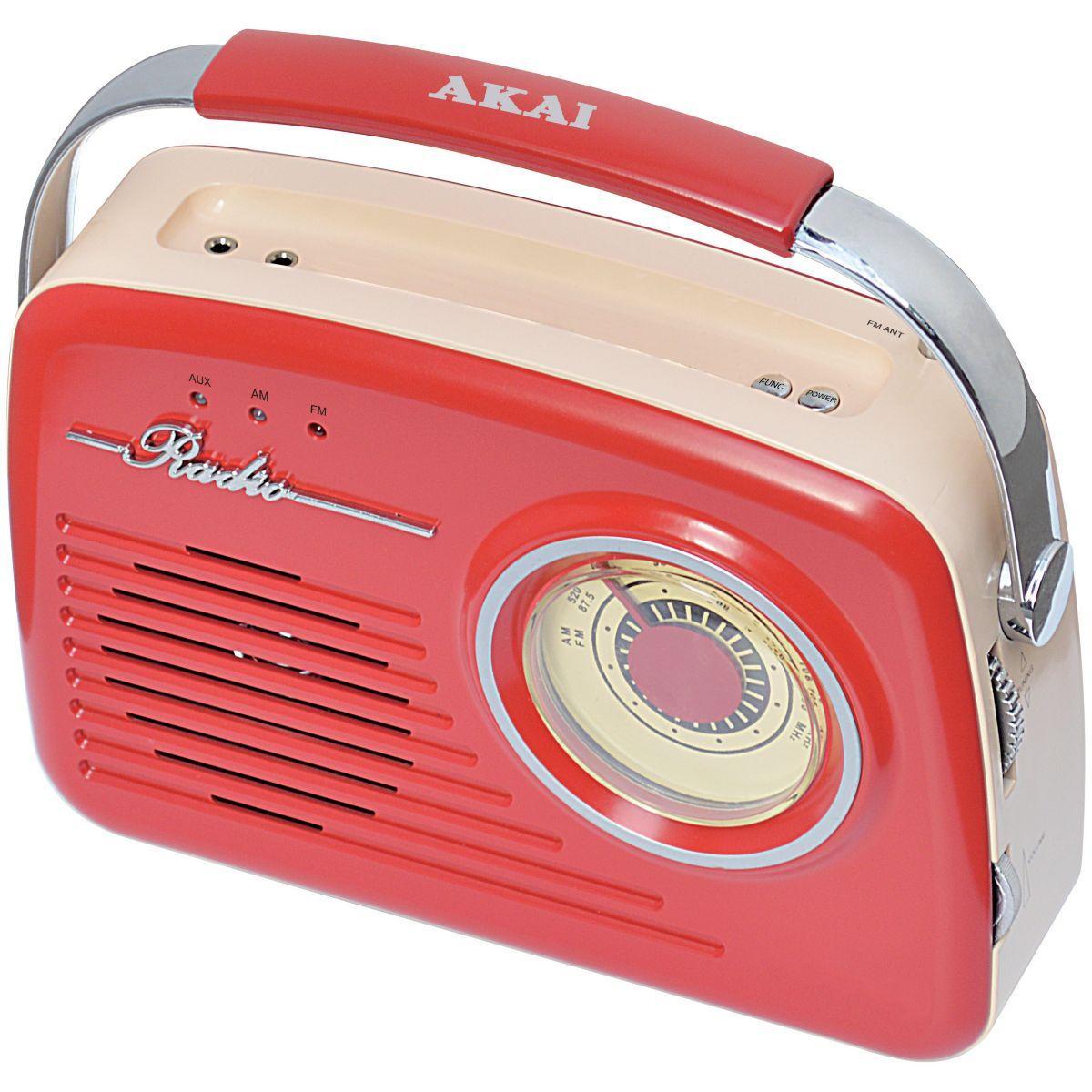 Radio akai ar-78 rouge - 20% de remise imm�diate avec le code : fete20 (photo)