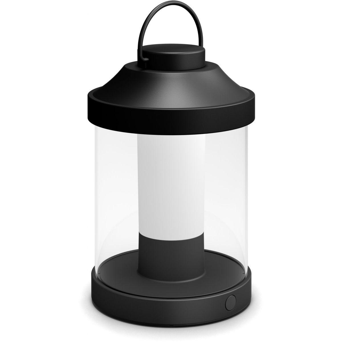 Lanterne philips portable abelia - noir - 7% de remise imm�diate avec le code : school7 (photo)