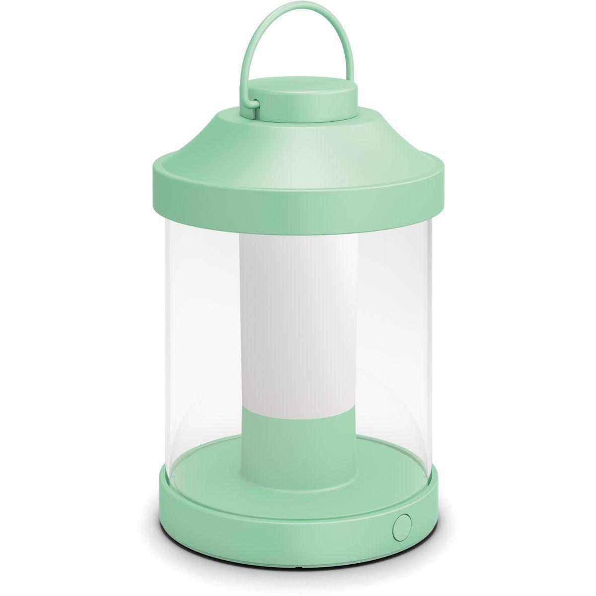 Lanterne philips portable abelia - vert p�le - 7% de remise imm�diate avec le code : school7 (photo)