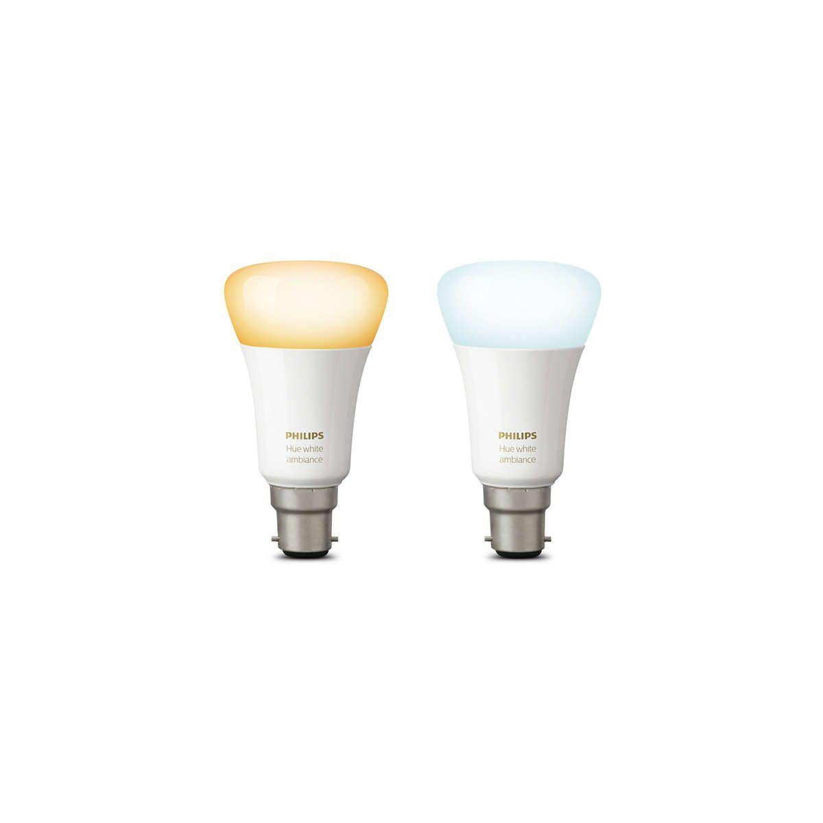 Ampoule connectable philips pack x2 b22 hue white & ambiance - 2% de remise imm�diate avec le code : school2 (photo)
