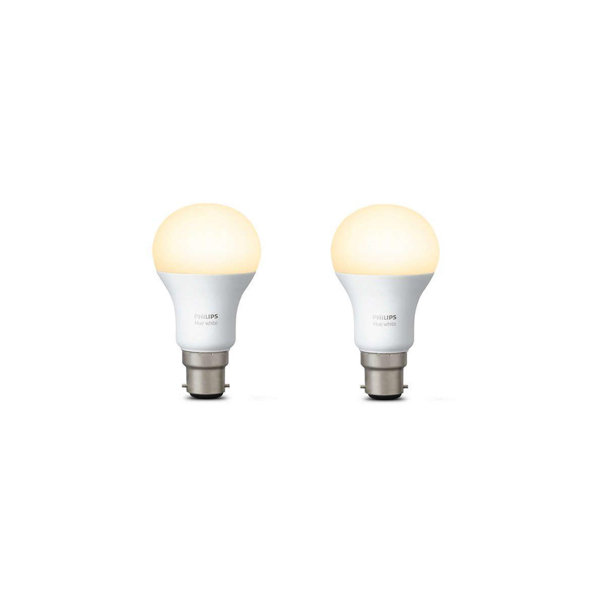 Ampoule connectable philips pack x2 b22 hue white - 2% de remise imm�diate avec le code : school2 (photo)